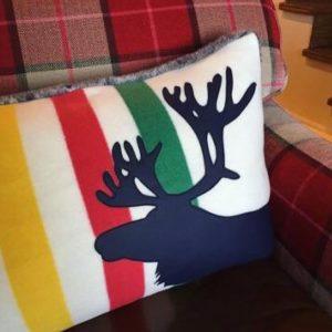 Moose throw cushion