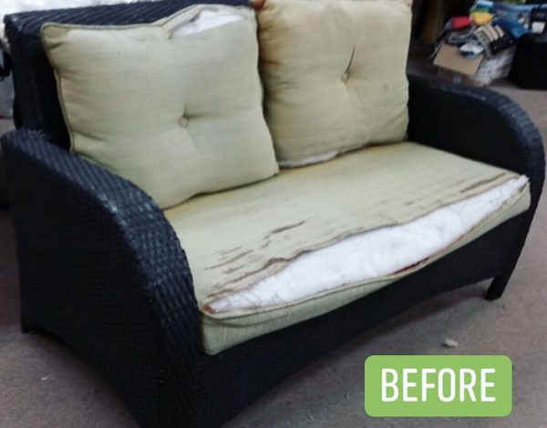Outdoor replacement cushions (before)