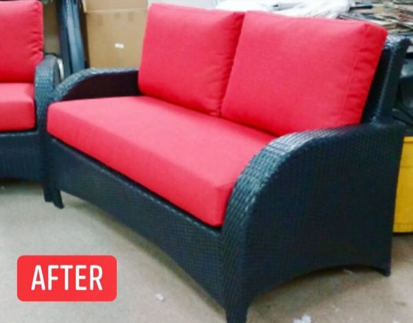 Outdoor replacement cushions (after)